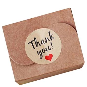 Lumanuby 120x Siegel Aufkleber Rund Thank You Dichtungs Sticker Mit Rot Liebe Herz Zubehör Für Backengeschenkehochzeit Aufkleber Serie