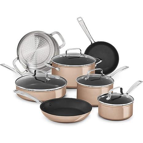 KitchenAid - Juego de utensilios de cocina (11 piezas), color marrón ...