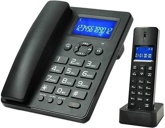 YANGFH Telefono Fijo inalámbrico Digital Luminoso botón Grande teléfono Retro (Color : Black): Amazon.es: Hogar