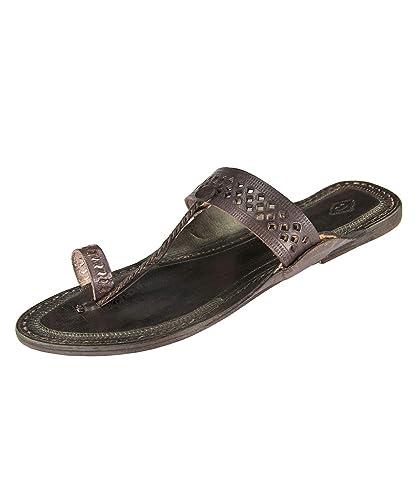 254d9b0fb21f9e eKolhapuri Awesome Looking Ladies flip Flop Authentic Handmade Genuine  Leather Kolhapuri Sandal Size US-10
