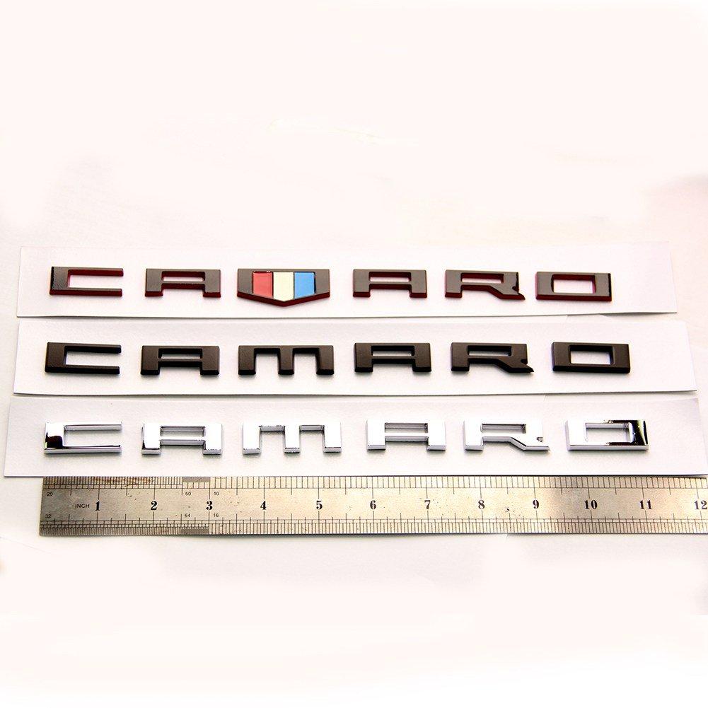 Yoaoo 2x OEM CAMARO Letter Emblem 3D Badge RS SS ZL1 Z28 Chevy Matte Black 23172682