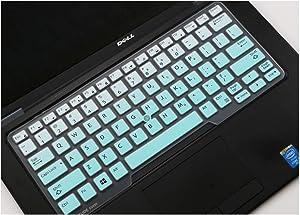 Compatible for Dell Latitude 14 E7450 E7470 E5470 E7480 5480 5490 7490 14 Inch Silicone Laptop Keyboard Cover Skin,fademint