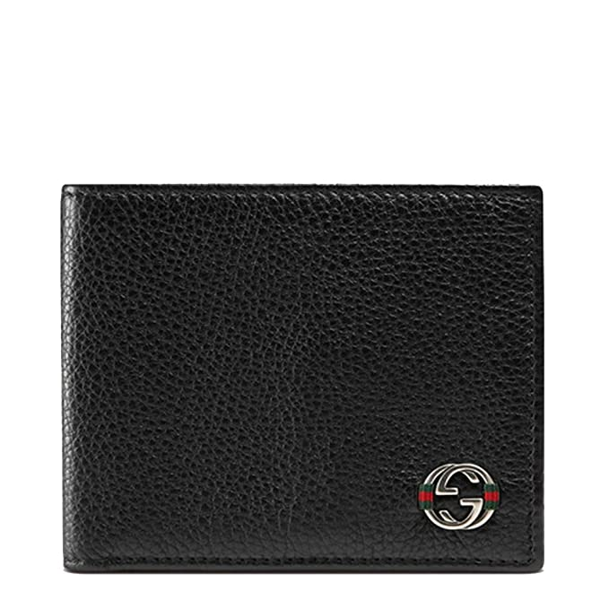 fd3786b9ad152c Gucci Grain Leather Men's Bifold Wallet 308798, Navy Blue: Amazon.ca:  Clothing & Accessories