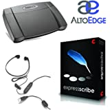 Express Scribe Pro Transcription Kit with USB Foot Pedal & USB Transcription Headset