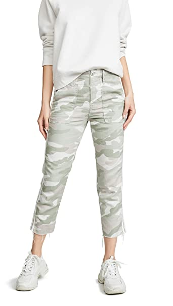 87ecde94a4bda Amazon.com: MOTHER Women's The Shaker Chop Crop Fray Pants: Clothing