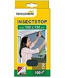 Schellenberg 50713 Mosquitera, protección Anti Insectos y Moscas para Ventanas, Antracita Max. 100 x 130 cm