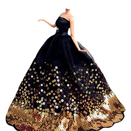 Used, Beauty Clubs Fashion Princess Party Black Sequin Dress for sale  Delivered anywhere in USA
