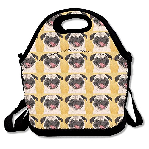 Smiles Lunch - Funny Pug Smile Wallpaper Lunch Bag Feddiy - Lunch bag - Lunch box