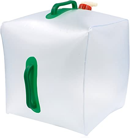 2Pcs Faltbar Trinkwasserkanister Camping Kanister Wasserbehälter Mit Hahn 20L