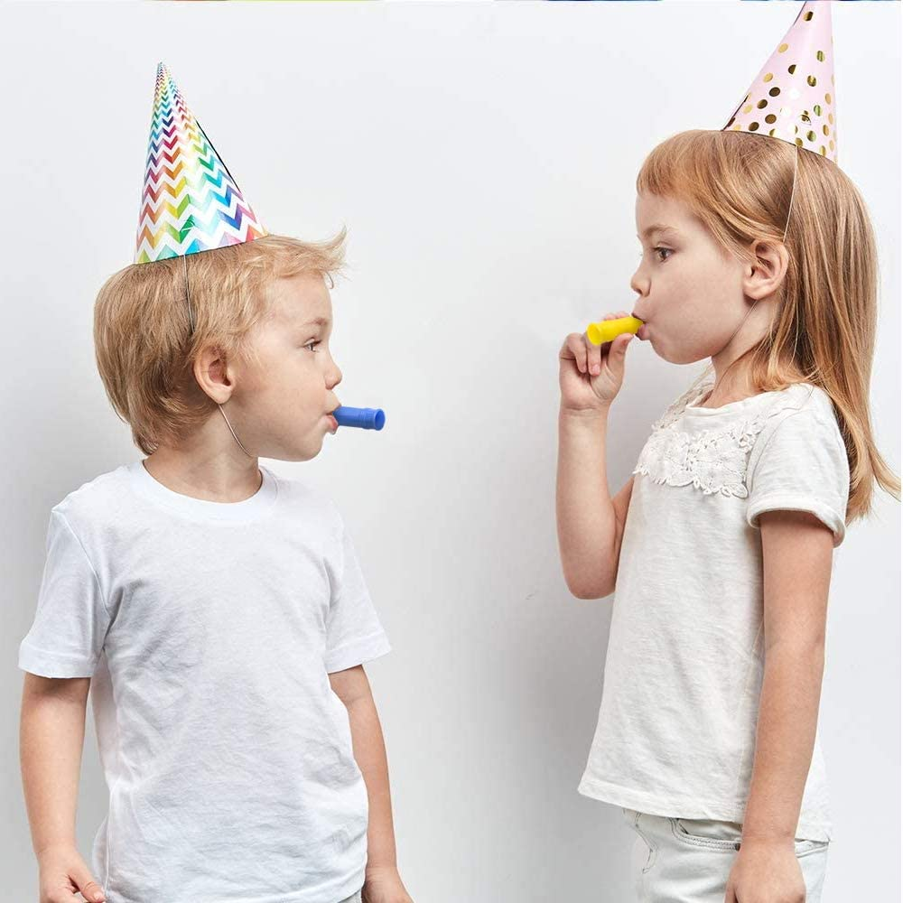 ArtCreativity Siren Whistles for Kids - Pack of 25, Durable Plastic Siren Noise Maker Party Whistles, Bright Assorted Colors, Birthday Party Favors, Goodie Bag Fillers, Treasure Box Prizes: Toys & Games