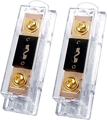 LEIGESAUDIO 0 2 4 Gauge AWG 250 Amp ANL Fuse Holder Wire Inline Fuse for Car Audi 250A