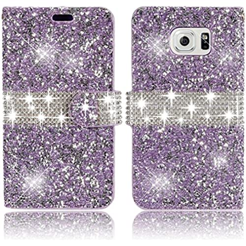 Samsung Galaxy S7 Wallet Case,Vandot Premium 3D Diamond Bling Shining Sparkle Crystal Rhinstone Case Cover PU Sales
