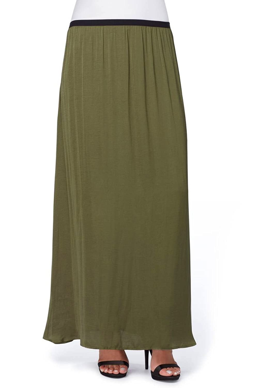 CATHERINE CATHERINE MALANDRINO Women's Cole Hammered Charmeuse Maxi Skirt