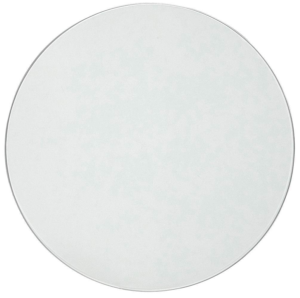 24 Inch Glass Table Top | 1/4'' Thick Tempered Polished Pencil Edge | 24'' No Bevel Premium Round Flat Circular Plate Glass | Perfect Circle (Renewed) by Hamilton Hills