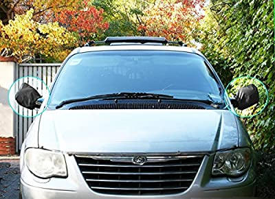 Car Mirror Cover- Auto Side Mirror Snow Cover Set Ice / Snow / Frost Guard Protector Keeping Snow Ice off from Mirror Fit Most of the Cars Wing Mirrors (Back)
