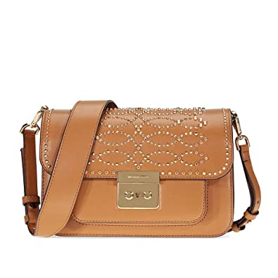 f3930f6f666ac Michael Kors Sloan Studded Leather Shoulder Bag - Acorn  Handbags ...