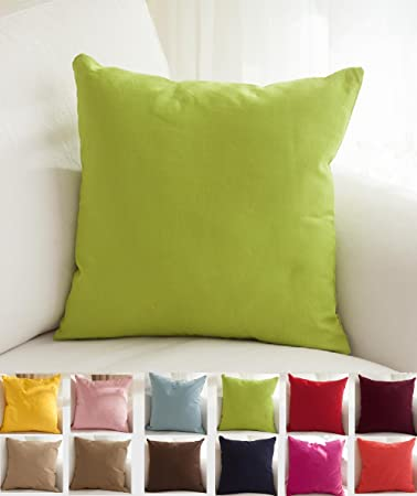 """Amazon TangDepot Cotton Solid Throw Pillow Covers 12"""" x 18"""