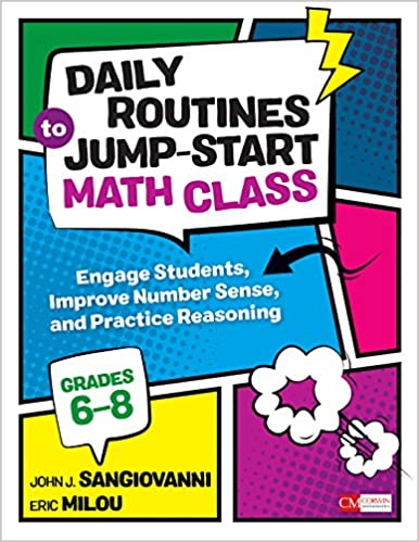 Amazoncom Daily Routines To Jump Start Math Class Grades 6 8