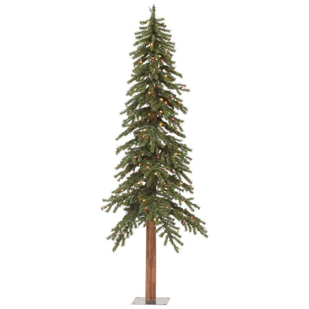 Vickerman 9' Natural Alpine Christmas Tree with 500 Multi-colored LED lights