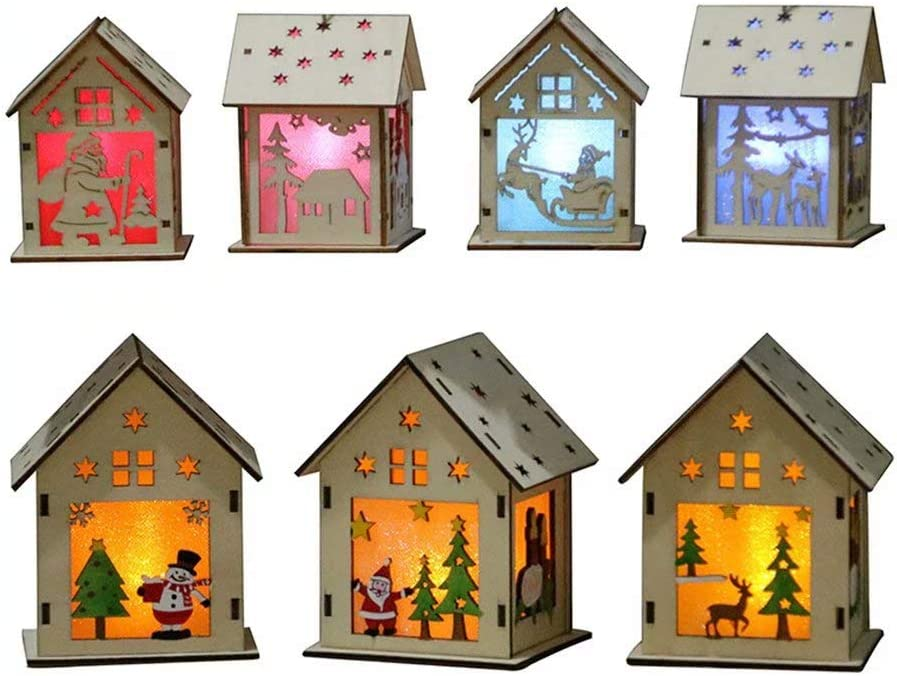 Amazon Com Wood Craft Kits Unfinished Small Houses 3d Cutting
