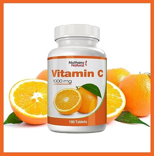 Vitamina C 1000 mg - 180 comprimidos | Preparado de Vitamina C de alta dosificación para máxima eficacia | Para más energía y fuerza vital y contra la ...