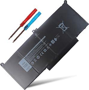 F3YGT Laptop Battery Compatible with Dell Latitude E7480 E7490 E7280 12 7000 7280 7290 13 7000 7380 7390 14 7000 7480 7490 2X39G 451-BBYE KG7VF 453-BBCF 0DM3WC 451-BBYE 453-BBCF