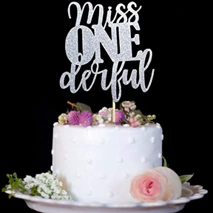 Amazon Com 1st Birthday Cake Topper Miss Onederful For One Year