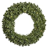 Vickerman 27619 - 120'' Grand Teton 1,200 Warm White Wide Angle LED Lights Christmas Wreath (G125686LED)