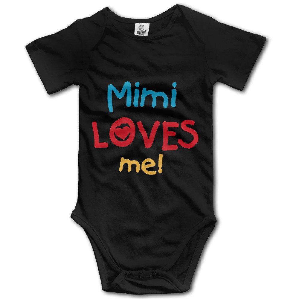 Cute Baby Onesie Mimi Loves Me And Gifts Short Sleeve Bodysuit