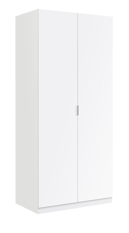 13Casa Larissa A3 Armadio Anta Battente, 81X52X180 H cm, Bianco, Melamina F00531501020