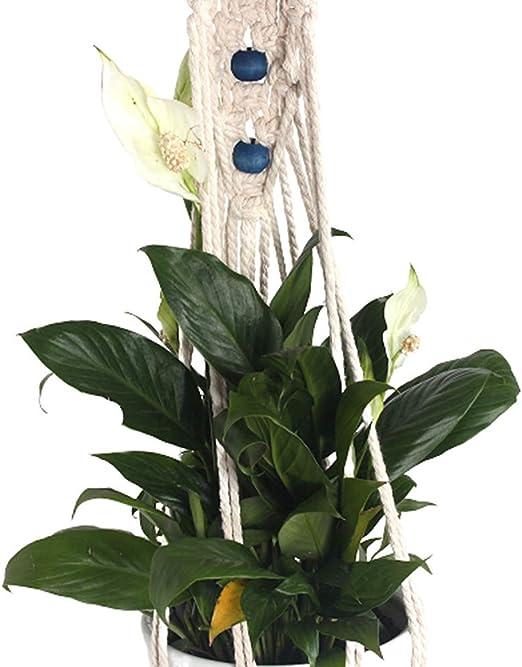 chunnron Jardín decoración Hogar Decoración Accesorios Hecho a Mano de Cuerda de algodón Cesta de Maceta de Flores De Interior al Aire Libre de la decoración: Amazon.es: Hogar