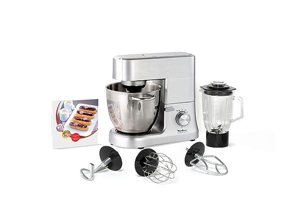 Moulinex Masterchef QA810D01 - Robot de cocina y repostería profesional 1500 W con kit de masas metálico, bol XL de 6,7 L, 4 posibilidades de accesoríos ...