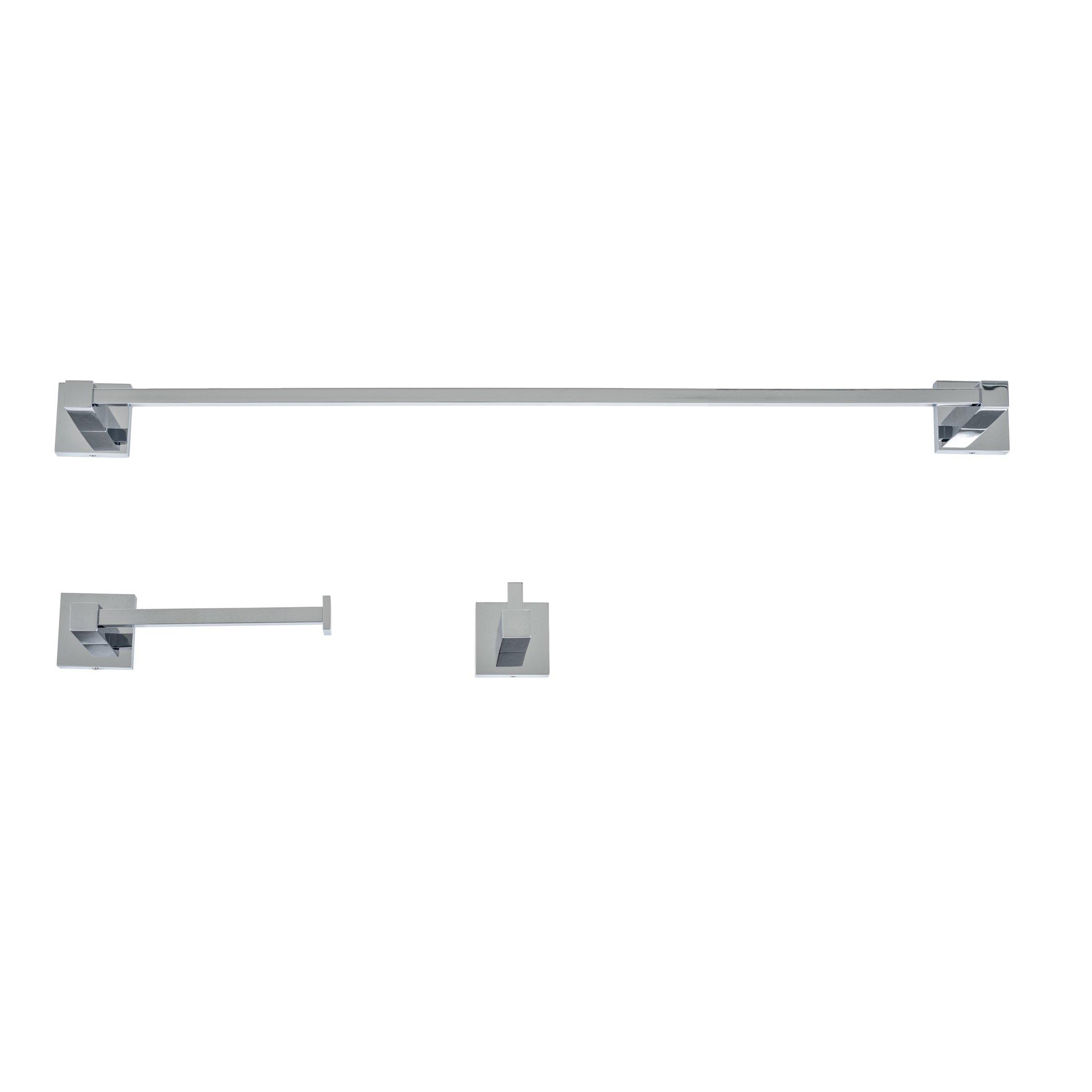 Italia CA3SET Capri Polished Chrome 3 Piece Bathroom Accessory Set