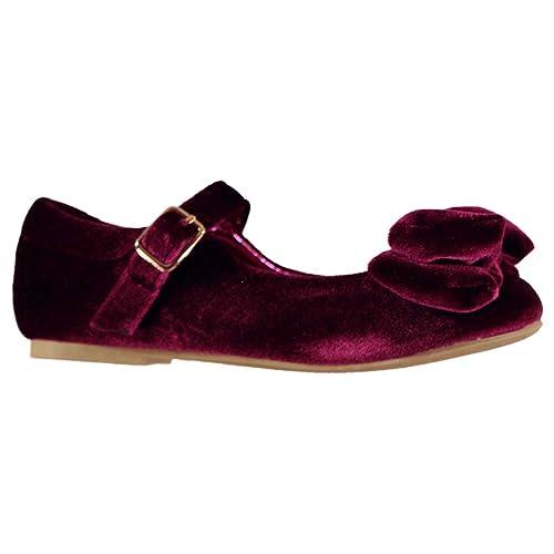 Miso Niños Hannah Zapatillas con Lazo Rosa 24: Amazon.es: Zapatos y complementos