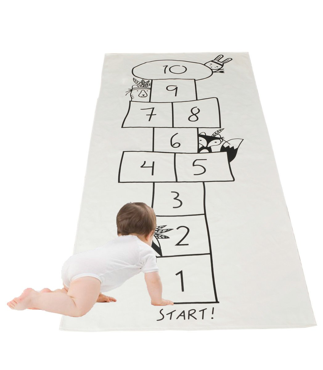 kaguster Kid chilren Game Rug Play Carpets (Hopscotch Game Rug)