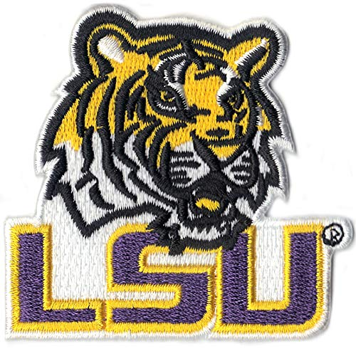 (Official Louisiana State 'LSU' with Tiger NCCA College Logo Iron On Patch)