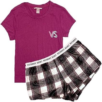 Victorias Secret - Conjunto de Pijama de 2 Piezas de Franela para Mujer