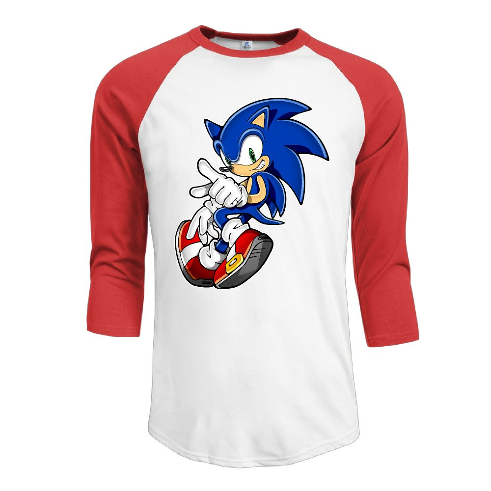 Amazon Com Soonion Men S Sonic The Hedgehog 3 4 Sleeve Cotton Baseball Tee T Shirts Red 3853227931490 Books