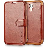 Galaxy S4 Case Wallet,Mulbess [Layered Dandy][Vintage Series][Coffee Brown] - [Ultra Slim][Wallet Case] - Leather Flip Cover With Credit Card Slot for Samsung Galaxy S4 i9500