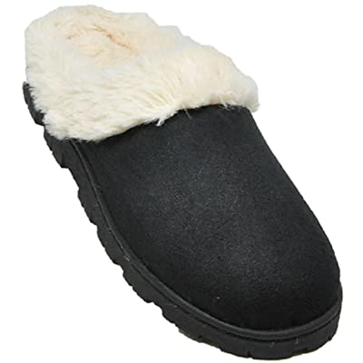 Shoes 18 Womens Indoor/Outdoor Faux Shearling Slippers | Slippers