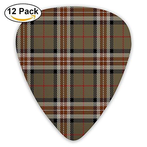 Newfood Ss Scottish Style Tartan Geometrical Striped Pattern Cultural Folk Elements Guitar Picks 12/Pack ()