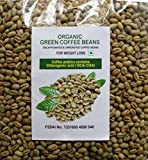 Unroasted Organic Decaffeinated Green Coffee Seeds (Beans) For Weight Loss 200 Gms Coffea Arabica Contains Chlorogenic Acid ( Gca / Cga )- FREE DELIVERY