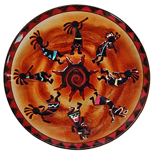 Continental Art Center Kokopellis Glass Plate, 18-Inch by Continental Art