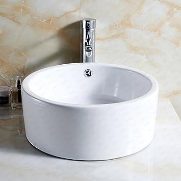 schindora Modern rund Waschbecken Keramik kleinen Garderobe ...