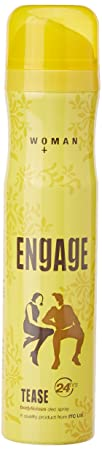 Engage Woman Deodorant, Tease, 165ml / 110g (Weight May Vary)