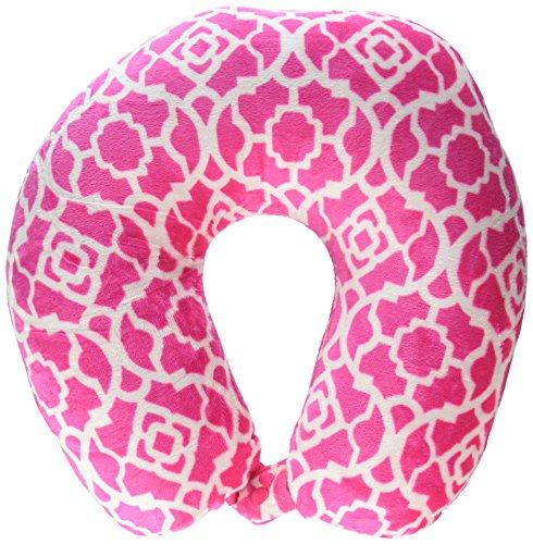 Worlds Best 2360 Trellis Feather Soft Microfiber Neck Pillow, Pink
