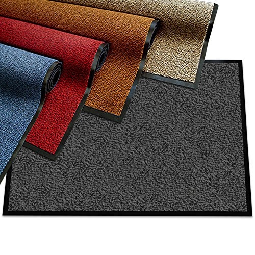 Premium Entry Mat | Entrance Mat Comparison Test Score: Excellent (A-/1.7) | Ideal as Front Door Mat or Entry Rug | Charcoal Gray - 36