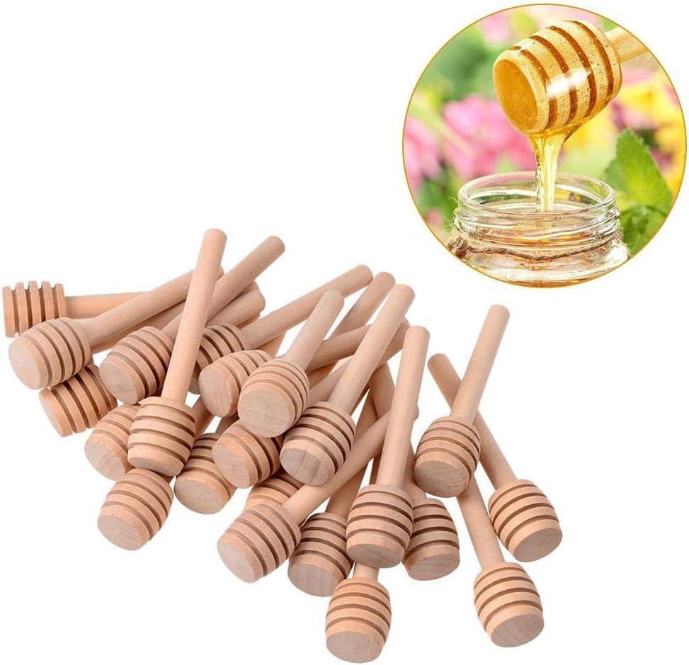 Yunt 24pcs Mini Honiglöffel Holz Set Honig Löffel Honey