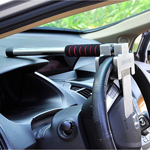 JXHD Car lock, car steering wheel lock Car truck universal Car adjustable anti-theft lock Heavy duty safety hammer Self-defense hand tool with emergency safety hammer by JXHD (Image #8)