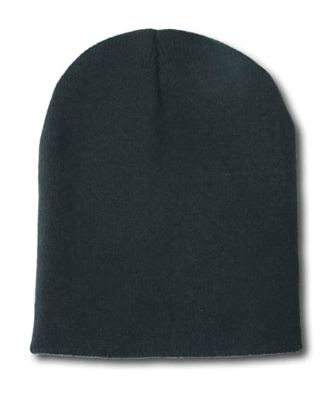 Blank Short Beanie Hat- Many Colors Available- Black at Amazon Men s ... 6c8b35b5728
